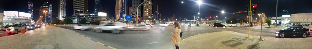 Walking back to our hotel after a busy day during the EVW private beta launch in Kuwait city.
