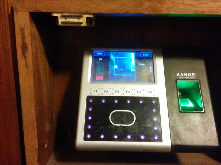 Hotel staff biometric recognition system